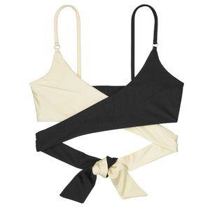 Victoria's Secret FAE Contrasting Wrap Bralette M